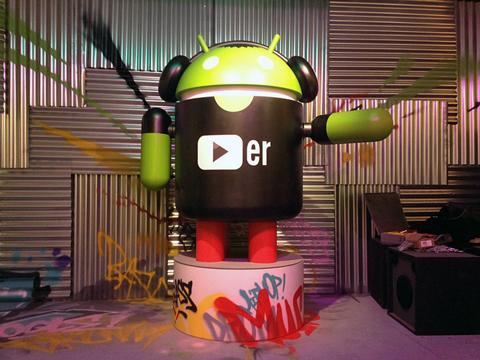 Graffitis en Stand de Android (MWC)