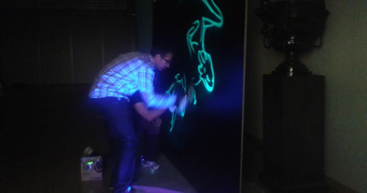 Live Painting fluorescente. Jonshon & Jonshon
