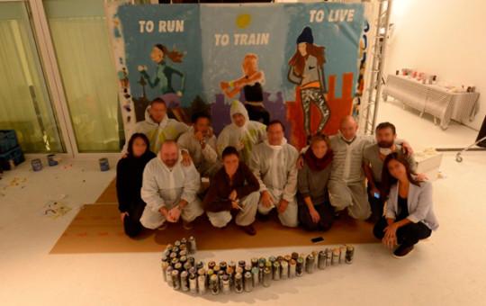 Team Building de Graffiti para departamento de Nike