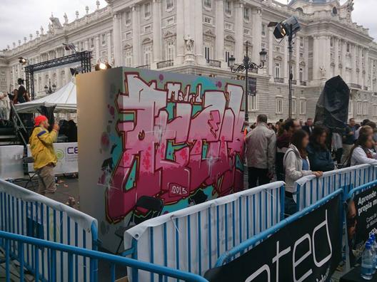 Graffiti en directo en Madrid para la Cadena Ser