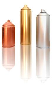 Spray de oro, plata y bronce